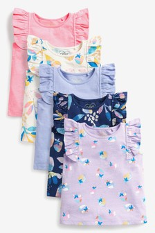 Bright 5 Pack Cotton Vests (3mths-7yrs)