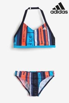 adidas Blue Stripe Logo Bikini