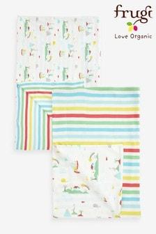 Frugi GOTS Organic Island Life Print Cot Bed Duvet Set