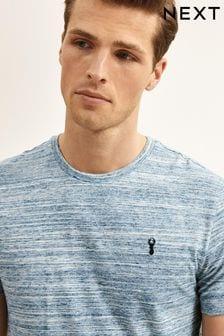 Light Blue Marl Regular Fit Stag T-Shirt