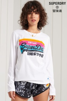 Superdry Vintage Logo Cali Long Sleeve T-Shirt