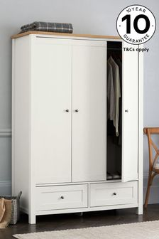 Chalk Malvern Triple Wardrobe