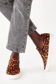 Leopard Regular/Wide Fit Forever Comfort® Skater Shoes