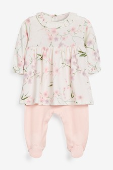 Pink Floral 2-In-1 Sleepsuit (0mths-2yrs)