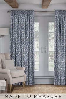 Leya Denim Blue Made To Measure Curtains