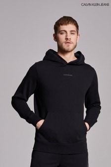 Calvin Klein Jeans Black Logo Jacquard Hoodie