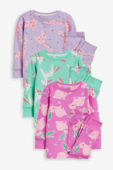 Multi 3 Pack Character Snuggle Pyjamas (9mths-8yrs)