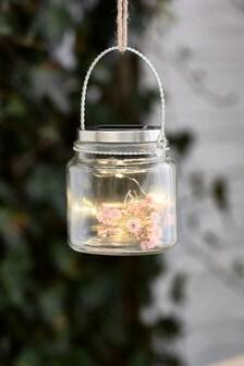 Faux Floral Solar Lantern