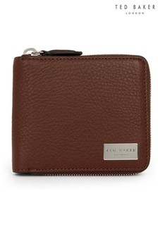 Ted Baker Baits Leather Zip-Up Wallet