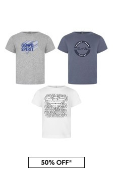 Emporio Armani Boys Grey Boys T-Shirt Set