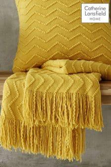 Chevron Knit Throw by Catherine Lansfield