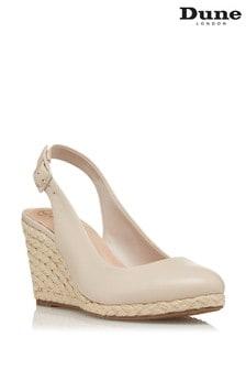 Dune London Neutral Codi Slingback High Espadrille Wedge Shoes