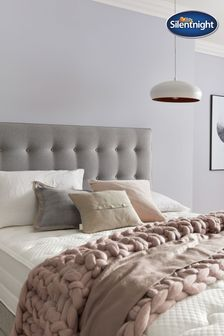 Hayez Strutted Slate Grey Headboard by Silentnight
