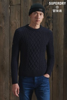 Superdry Jacob Cable Crew Neck Jumper