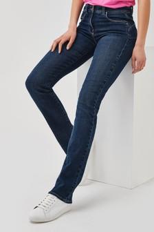 Dark Blue Greencast Lift, Slim And Shape Boot Cut Jeans