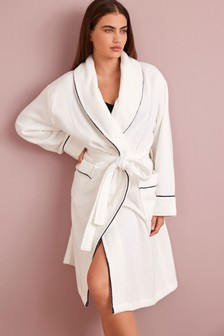 White Collection Luxe Premium Cotton Towelling Dressing Gown