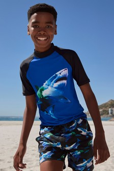 Cobalt Shark Rash Vest (3-16yrs)