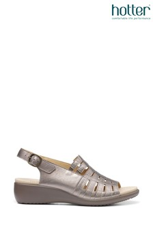 Hotter Rosella Buckle Fastening Wedge Sandals