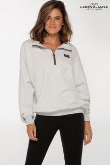 Lorna Jane Grey Sport Quarter Zip Sweatshirt