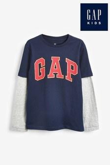 Gap Navy Logo T-Shirt