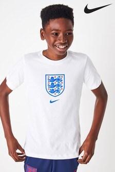 Nike White England Crest T-Shirt