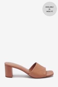 Camel Mule Sandals