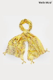 White Stuff Chartreuse Carrie Organic Cotton Scarf