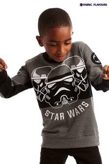 Fabric Flavours Grey Star Wars™ Trio Stormtrooper Sweatshirt