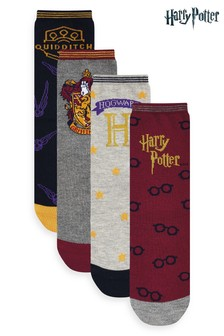 Harry Potter Printed Ankle Socks Four Pack