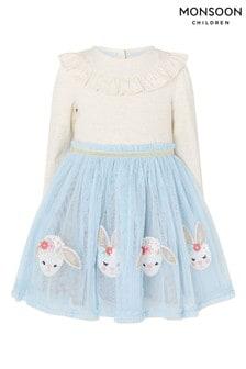 Monsoon Baby Blue Bunny Disco Dress