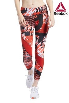 Reebok Red Printed Work Out Ready Leggings