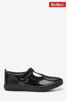 Kickers Infants Kariko T-Bar Velcro Patent Leather Shoes