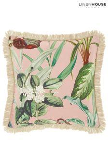 Wonderplant Botanical Leaf Cushion by Linen House