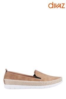 Divaz Tan Kendall Slip-On Summer Shoes