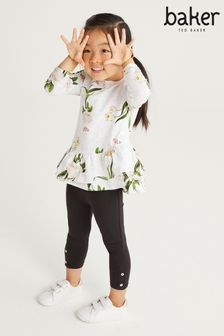 Baker by Ted Baker Ruffle Top And Leggings Set