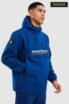 Nautica Competition Blue Cowl 1/4 Zip Jacket