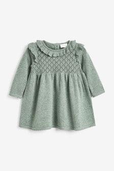 Green Knitted Dress (0mths-2yrs)