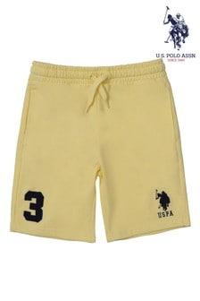 U.S. Polo Assn. Yellow Player 3 Sweat Shorts