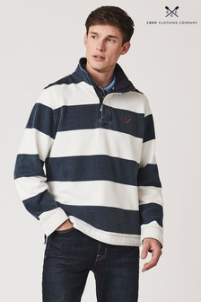 Crew Clothing Company Blue Padstow Pique Sweatshirt