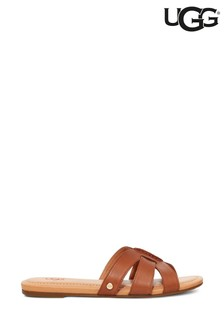 UGG® Tan Teague Leather Sandals