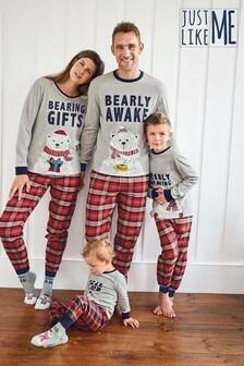 Red Matching Family Mens Christmas Bear Pyjamas