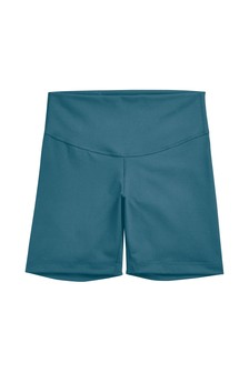 Teal High Waisted Sculpting Shorts