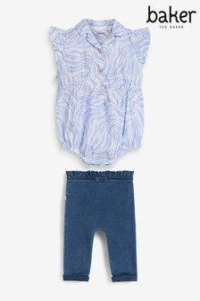 Baker by Ted Baker Shirt Bodysuit Set