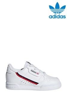 adidas Originals White Continental 80s Infant Elastic Trainers