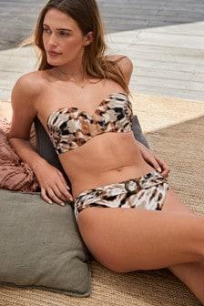 Tie Dye Shape Enhancing Bandeau Bikini Top