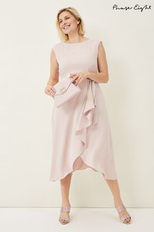 Phase Eight Pink Rushelle Dress