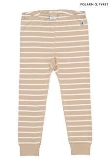 Polarn O. Pyret Natural Organic Cotton Stripe Trousers