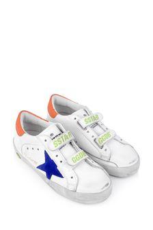 حذاء رياضيجلد وسويدأبيضللأطفالOld School