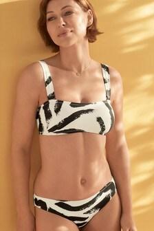 Monochrome Bandeau Top Emma Willis Swimwear