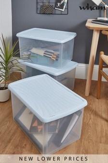 Set of 3 Box 54L Boxes by Wham